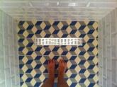 bathroom detail in Slow City Hostel