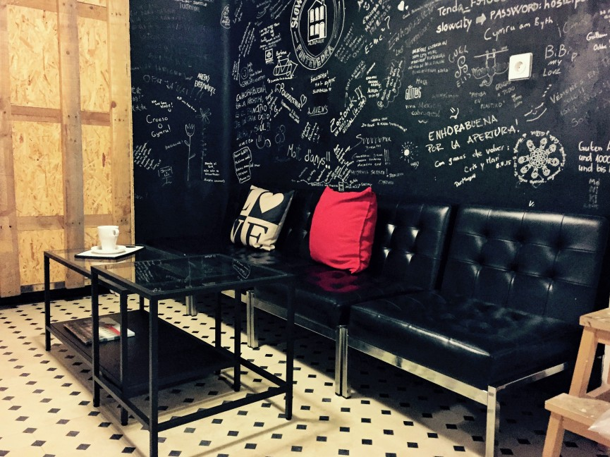 The living room is the best area in Slow City Hostel to talk and share time with other guests.