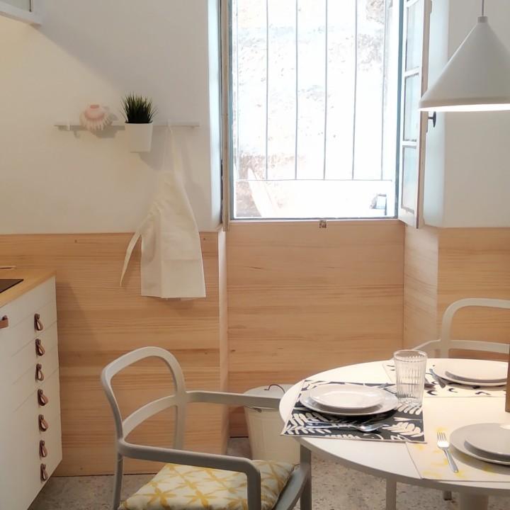 cocina apartamento turistico Pontevedra Slow City Hostel